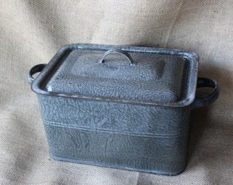 Vintage Graniteware Steamer