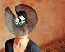 Designer Sinamay Straw Hat