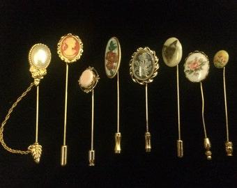 Lot of 8 Mixed Decorative Pins