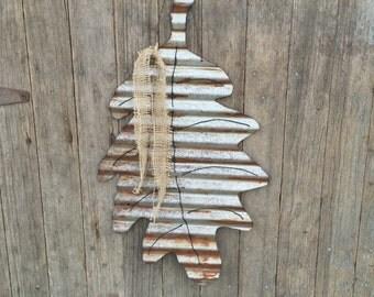 Rustic tin leaf, tin leaf decor, fall leaf decor, tin leaf, rustic fall decor, handmade tin leaf, metal fall decor, metal leaf hanging