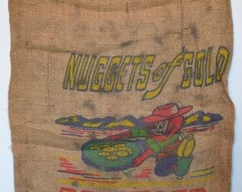 Nuggets of Gold Washington Potatoes Burlap Sack
