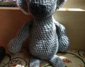 Crochet amigurumi koala bear