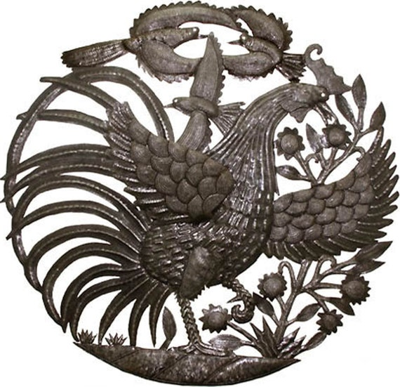 Rooster wall decor metal :