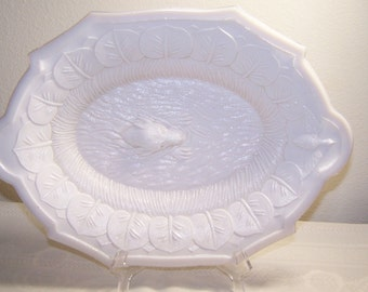 Atterbury? Milk Glass Retriever Tray
