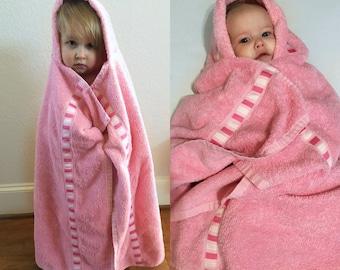 Ribbon Trim Hooded Towel
