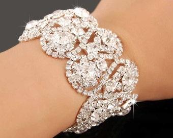 Shiny crystal bracelet