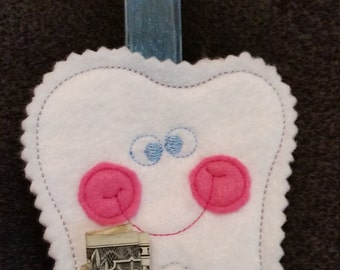 Embroidered Tooth Fairy Pouch