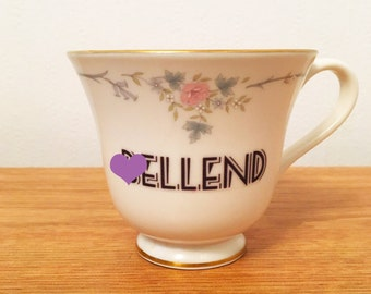 B*llend | Custom Swear Teacup | Made To Order | Funny Rude Insult Obscenity Profanity | Unique Gift Idea