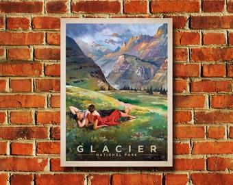 Glacier National Park Poster - #0511