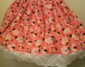 cupcake lolita skirt cute pink sweet circle skirt custom size