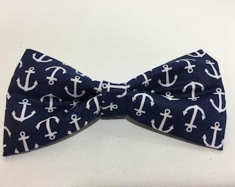 Anchor Bow Tie or Hair Bow