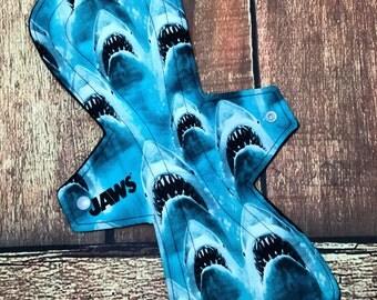 "14"" Cloth Pad Heavy Overnight Postpartum Waterproof Shark Week"