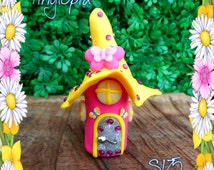 One of a kind handmade glow in the dark fairy house!