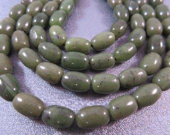 Canadian Jade Barrel Beads 43pcs