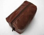 Leather Toiletry Kit Dopp Kit Mens Travel Toiletry Bag Shaving Bag Cosmetic Travel Case man toiletry bag woman Cosmetic bag gift for him her