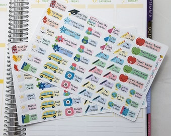 Kid's School Year Stickers