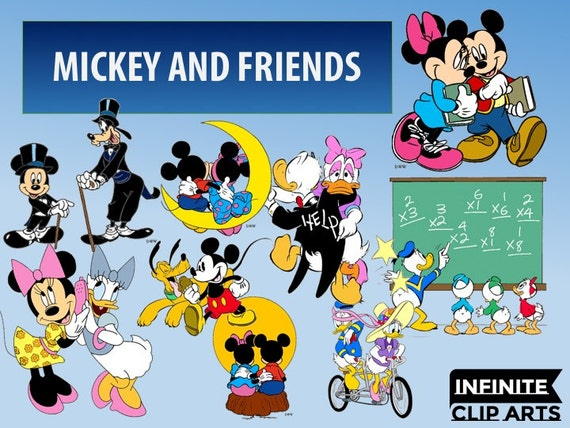 59 Mickey and Friends Disney Clip art -Printable Digital Clipart ...