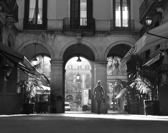 Placa Reial, Barcelona - Black and White Photography