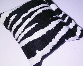 Zebra print catnip pillow!