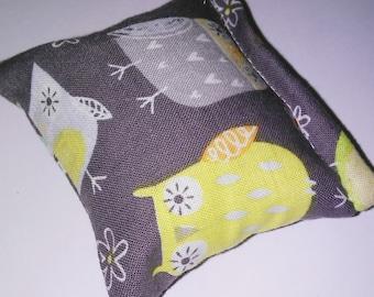 Artsy owls catnip pillow!