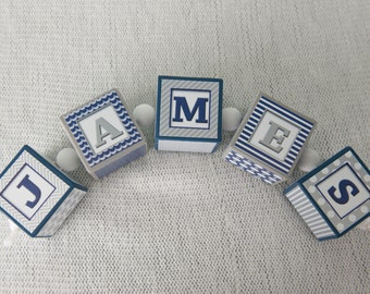 Baby Shower Gift- Custom Name Block - Name Blocks - Nursery Name Blocks - Nursery Decor - Personalized Blocks