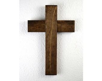 Rustic Wooden Cross, Wood Cross, Memorial Cross, Cross Decor, Gallery Wall