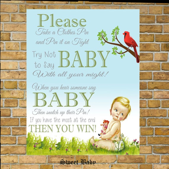 Sweet Sweet Baby Baby Shower Game: Sweet Baby Take A Pin Baby Shower Game Little By