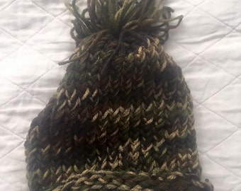 Camo knitted infant hat