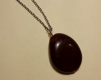 Dark Brown Pendant Necklace
