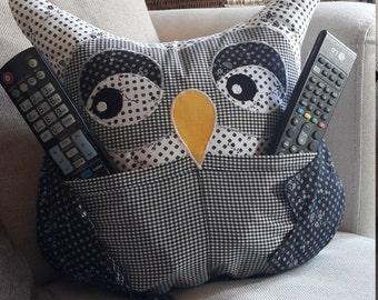 Owlfred the TV remote holder