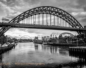 Newcastle/Gateshead Riverside Photographic print