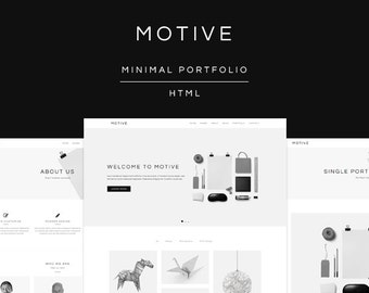 Motive - Minimal Portfolio HTML Website Template (live preview below)