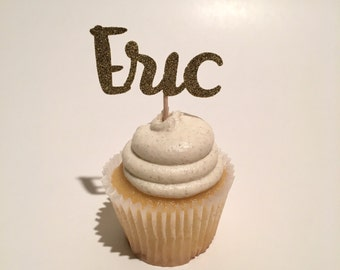 Custom Name Cupcake Topper