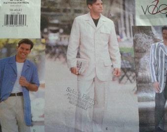 mens 38-40-42 Vogue 2103 jacket, shirt, shorts, trousers sewing pattern Uncut