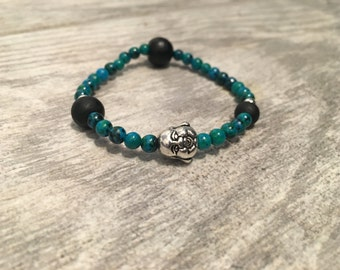 Aqua Buddha Bracelet
