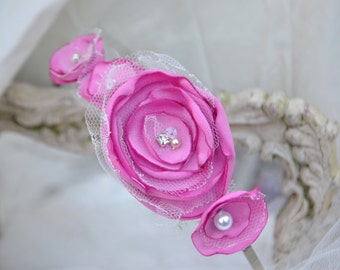 Fabric flower headband.
