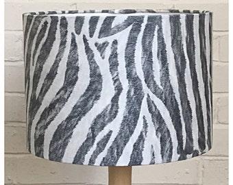 Black & White Zebra Print Lampshade,  Lightshade, Modern Lightshade / Various Sizes