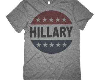 Hillary Clinton  Shirt - Retro Vote Hillary Button 2016 T-Shirt