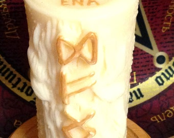 Rune Candle - Increase of incomes. Hand made in UK.