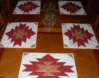 quilted placemats aztec dark center
