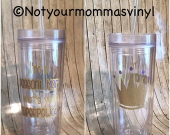 Pageant Tumbler Cup- beauty pageant/pageant gift/pageant mom/ pageant girl/mom gift/daughter gift