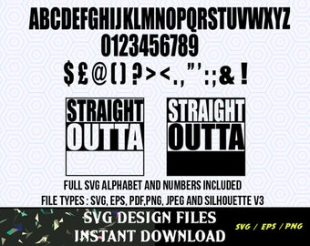 Straight Outta SVG Vinyl Cutting Decal, for Mugs, T Shirts, Cars  SVG files for Silhouette Cameo Cut Files, Svg Cutting Files. SVG  Decal