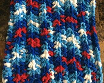 Red white and blue baby blanket, Captain America, baby blanket, newborn blanket, blanket, photo prop, 4th of july, flag, chevron