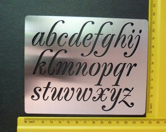 Stainless Steel Metal Lower Case Alphabet Embossing Art Stencil