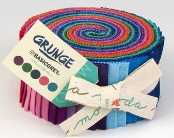 Grunge Jelly Roll by BasicGrey for Moda Fabrics 100% Cotton #30150JR