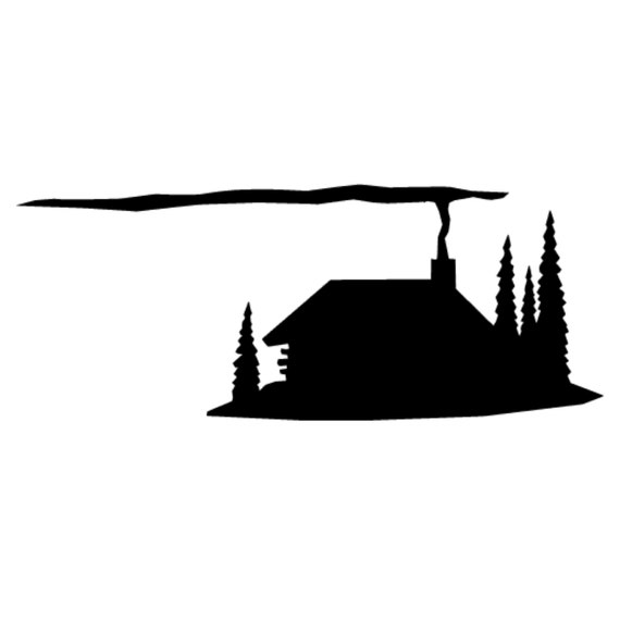 Rustic Cabin Stencil Made From 4 Ply Mat Board