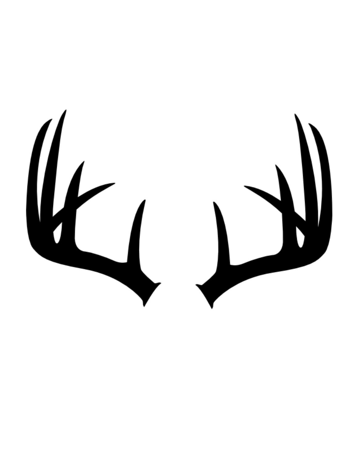 Pack Of 3 Antlers Stencils Made From 4 Ply Mat Board