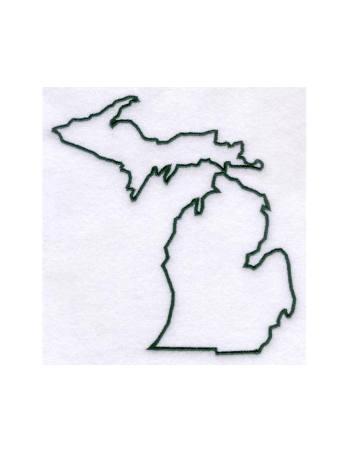 Michigan Stencil Made From 4 Ply Mat Board By