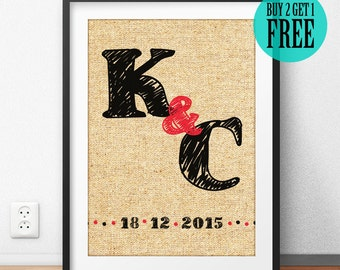 Anniversary Gift, Wedding Gift, Marriage Anniversary, Bridal Shower, Couple Gift, Housewarming Gift, Personalized Home Decor, Wall Art, CM34