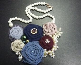 Flower  necklace handmade
